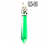 Green Aventurine Pendulum Wand Necklace. (925 silver) (4)